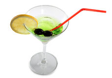 Limette de petit morceau en verre de Martini Photo stock