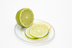 Limette et citron Images stock