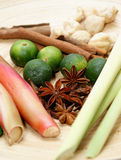 Limette et herbes Photo libre de droits