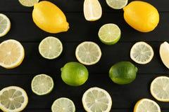 Limettes et citrons Images stock
