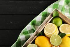 Limettes et citrons Photo libre de droits