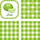 Limettes et configurations sans joint de guingan Images stock