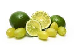 Limettes et raisins Photo stock