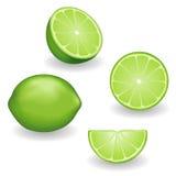 Limettes, quatre vues Image stock