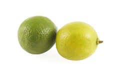 Limettes : vert et jaune. Photos stock