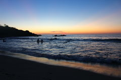 A Liminal Sunset over the Pacific. The end of a Pacific Sunset in Puerto Escondido, Mexico Royalty Free Stock Photo