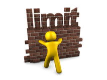 Limit. 3d image, conceptual, pushing the limit Stock Photography