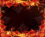 Limit flame fire. Frame of fire, vector art illustration flame Stock Photo