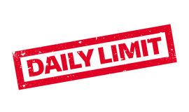Daily Limit rubber stamp Stock Photos
