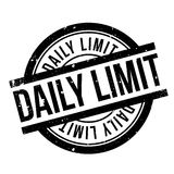 Daily Limit rubber stamp Royalty Free Stock Photos
