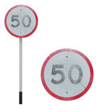 Limit speed sign Royalty Free Stock Images