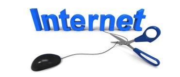 Limitação do Internet Fotografia de Stock