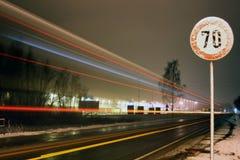 Limitation de vitesse Photo stock