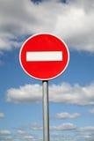 Limitation du poteau de signalisation photos libres de droits