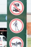 Limitation signs Royalty Free Stock Photos