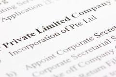 Limitato privato Immagini Stock
