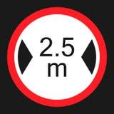 Limitazione dell'icona piana del segno di larghezza illustrazione vettoriale