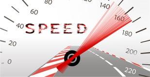 Limite d'accélération sur la route Photographie stock