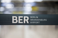 Limite da barreira de Berlin Brandenburg Airport Imagens de Stock Royalty Free