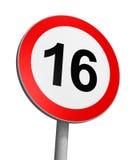 Limite de idade Over-16 Fotografia de Stock