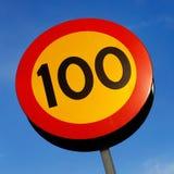 Limite de velocidade Fotografia de Stock