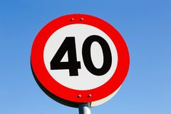 Limite de velocidade 40 Imagem de Stock