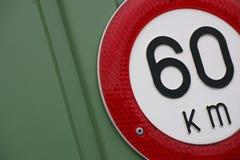 Limite de velocidade Fotografia de Stock Royalty Free