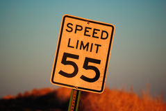 Limite de velocidade 55 Imagem de Stock