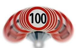 Limite de velocidade de Shaked Fotos de Stock