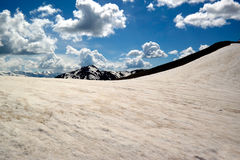 Limite des neiges éternelles dans le Caucase Images libres de droits