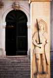 Limite di Dubrovnik - la colonna di Orlando Fotografia Stock Libera da Diritti