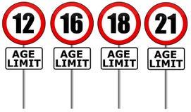 Limite di età royalty illustrazione gratis