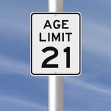 Limite di età a 21 Immagini Stock Libere da Diritti