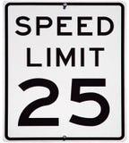 Limite di velocità 25 Fotografia Stock Libera da Diritti