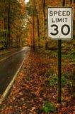 Limite di velocità 30 Immagini Stock Libere da Diritti