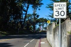 Limite di velocità 30 Fotografia Stock