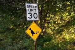 Limite di velocità Fotografia Stock Libera da Diritti