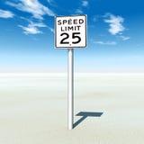 Limite di velocità 25 Fotografie Stock Libere da Diritti