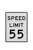 limite di velocità 55 mph isolati Immagine Stock Libera da Diritti