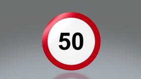 Limite di velocità del segnale stradale illustrazione vettoriale