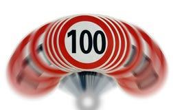 Limite di velocità di Shaked Fotografie Stock