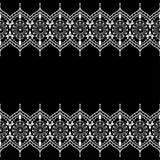 Limite elementos do teste padrão com flores sofisticadas e linhas do laço no estilo indiano do mehndi Fotografia de Stock Royalty Free