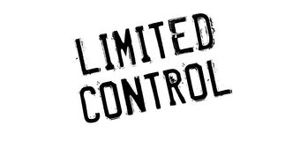 Limited Control rubber stamp Royalty Free Stock Image
