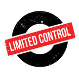 Limited Control rubber stamp Royalty Free Stock Photo