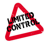 Limited Control rubber stamp Stock Photo