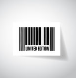 Limited edition bar code illustration design Stock Photo