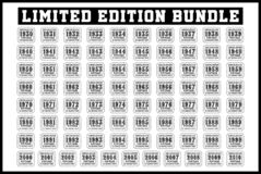 Free Limited Edition Birthday T-shirt SVG Bundle Stock Images - 167942784