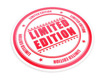 Limited Edition. Classic red stamp royalty free illustration
