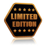 Limited edition five star hexagon button Royalty Free Stock Photography
