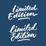 `limited edition` marketing vintage hand written lettering typography tag design. Best for labelling limited product promotion and other marketing product and Stock Images